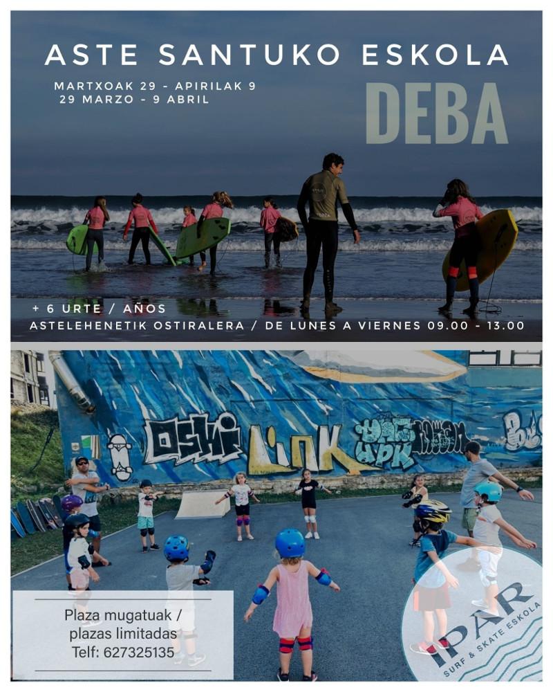Clases de surf en Deba semana santa 2021 - IPAR Surf Skate Eskola