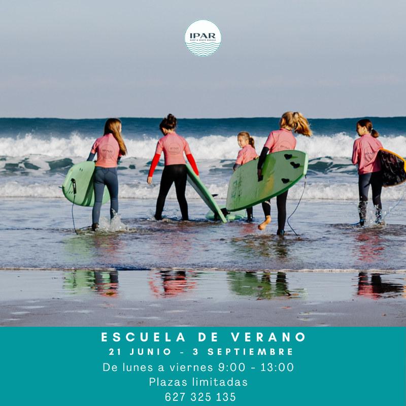 Escuela de verano 2021 - Escuela surf IPAR Deba