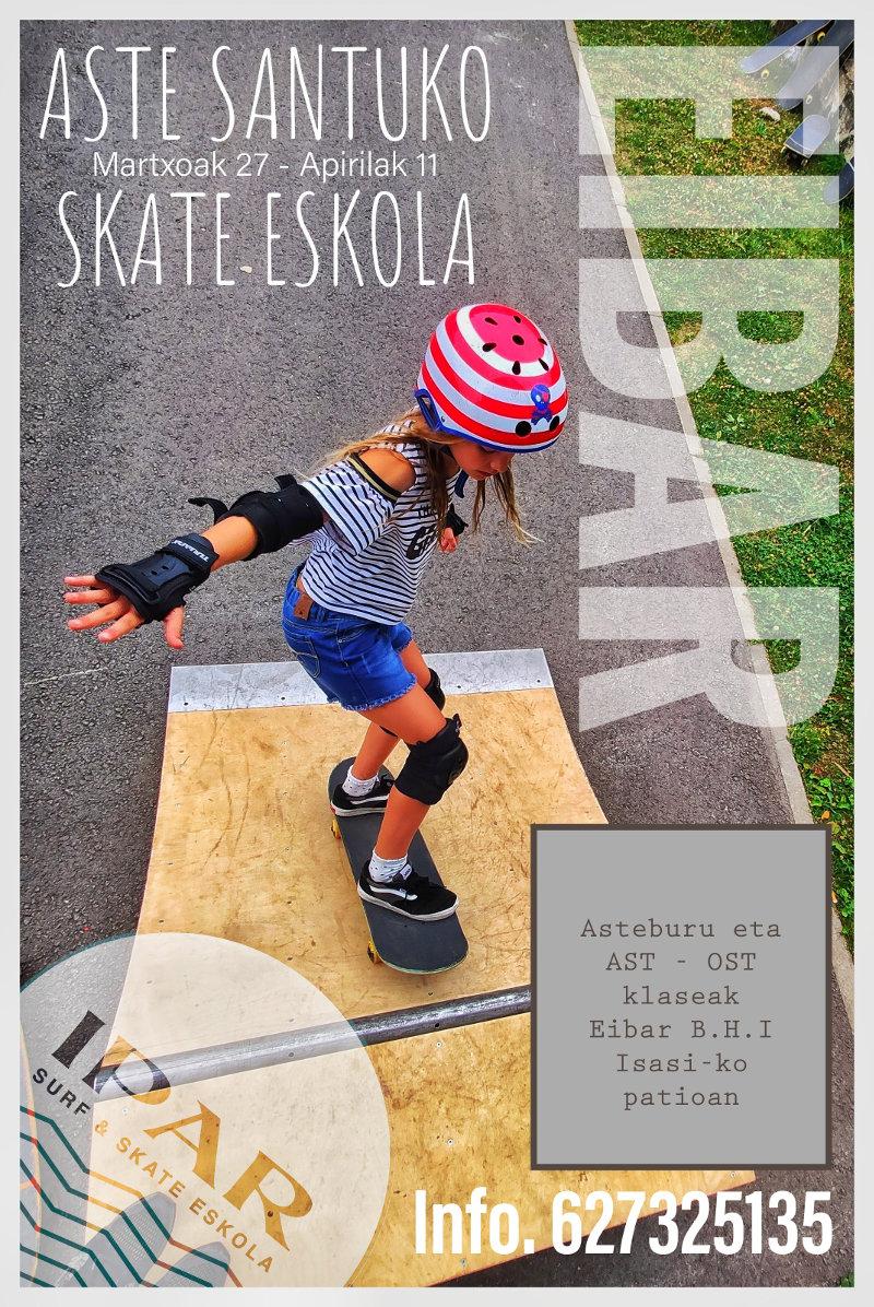 Clases de skate en Deba semana santa 2021 - IPAR Surf Skate Eskola