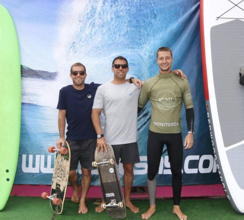 Ander Alberdi, Iñaki Zabala y Kepa Lores están ilusionados con su proyecto IPAR Surf Skate Eskola