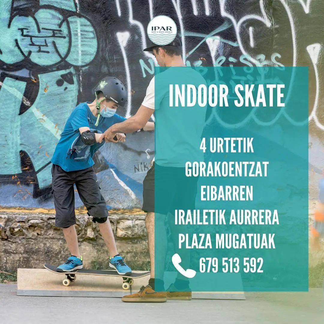 Skate indoor en Eibar - IPAR Skate Eskola