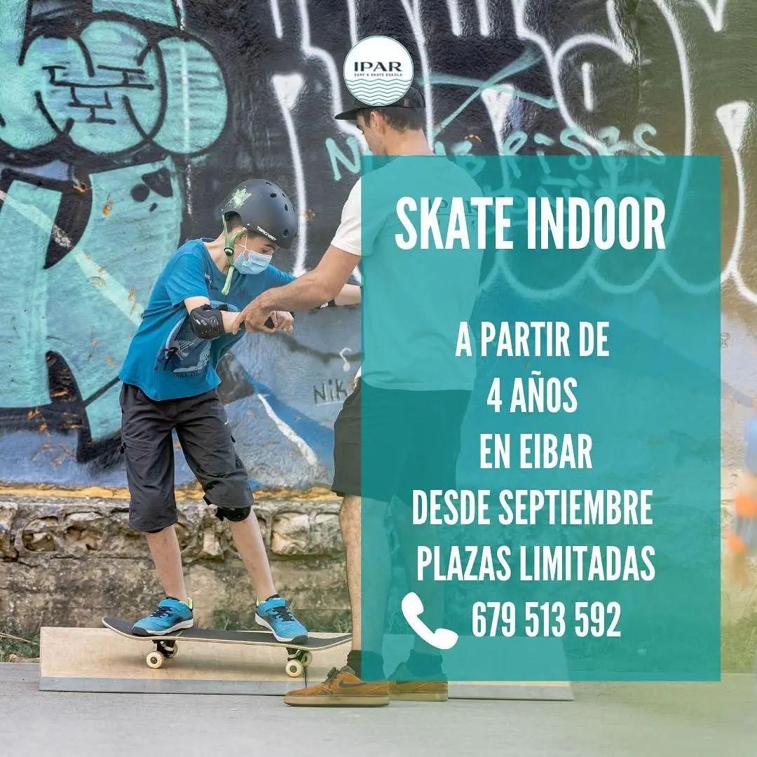 Clases de skate indoor en Eibar - IPAR escuela de skate