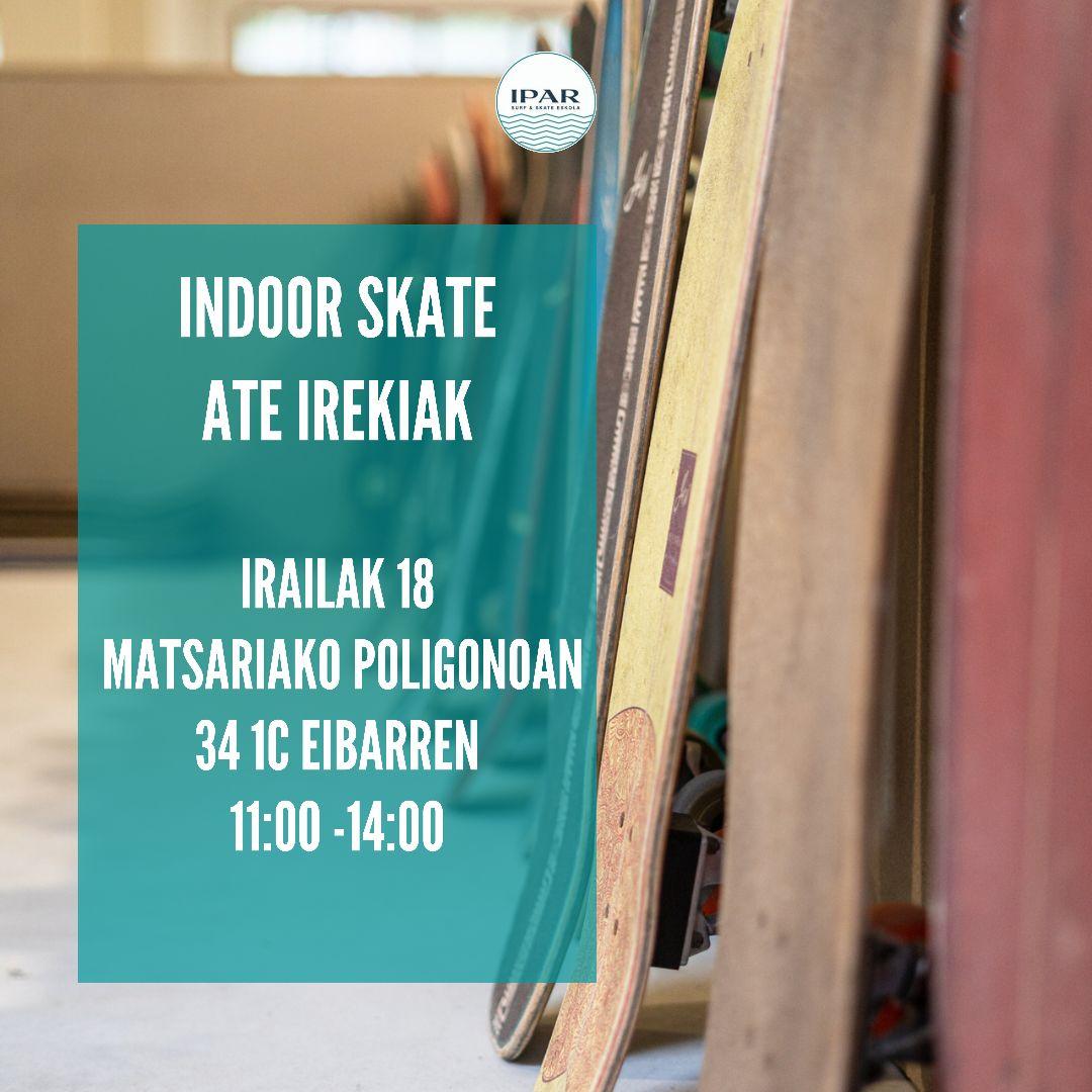 Indoor skatepark ate irekiak Eibarren - IPAR Skate Eskola